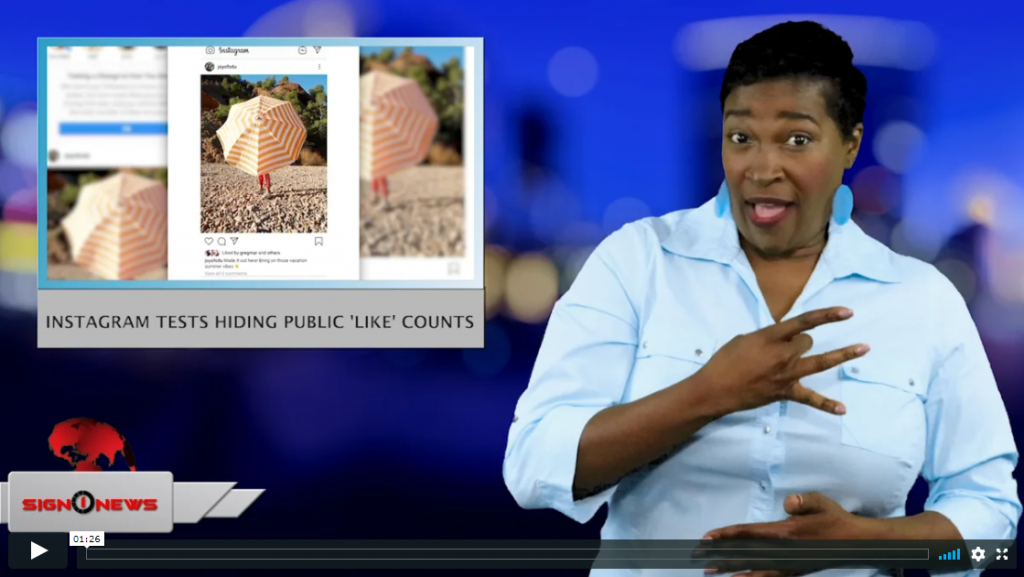 Sign 1 News with Candace Jones - Instagram tests hiding public 'Like' counts (ASL - 5.1.19)