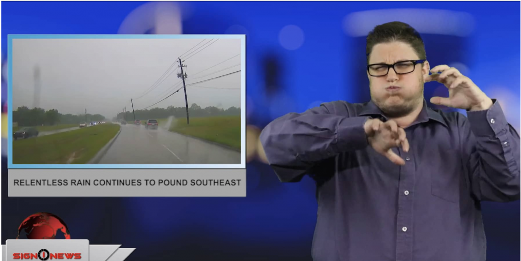 Sign1News anchor Jethro Wooddall - Relentless rain continues to pound southeast (ASL - 5.12.19)