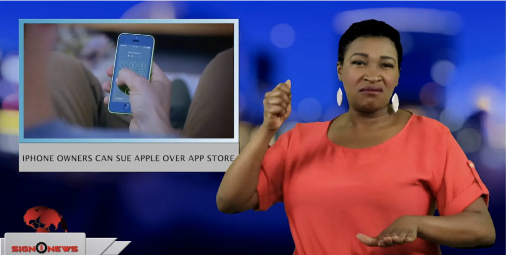 Sign1News anchor Candace Jones - iPhone owners can sue Apple over App Store (ASL - 5.14.19)