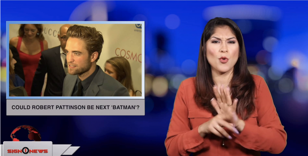 Sign1News anchor Crystal Cousineau - Could Robert Pattinson be next 'Batman'? (ASL - 5.17.19)