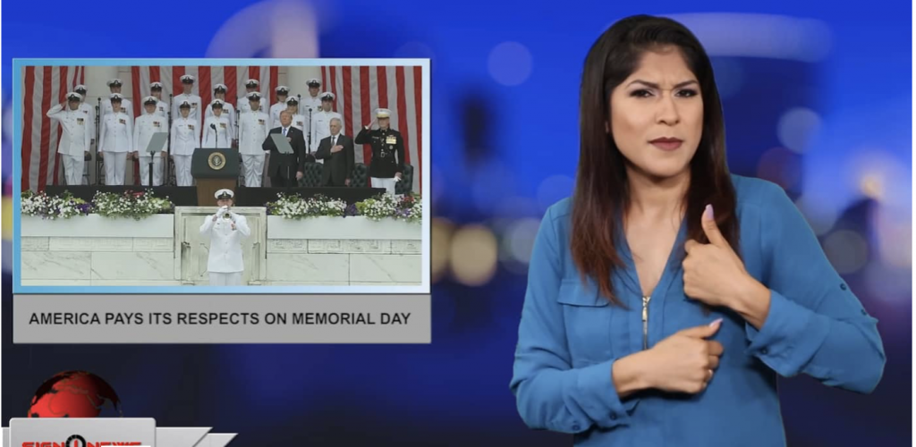 Sign1News anchor Crystal Cousineau - America pays its respects on Memorial Day (ASL - 5.27.19)