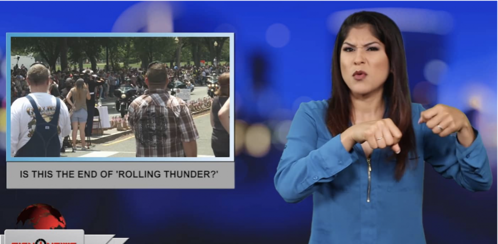 Sign1News anchor Crystal Cousineau - Is this the end of 'Rolling Thunder?' (ASL - 5.27.19)
