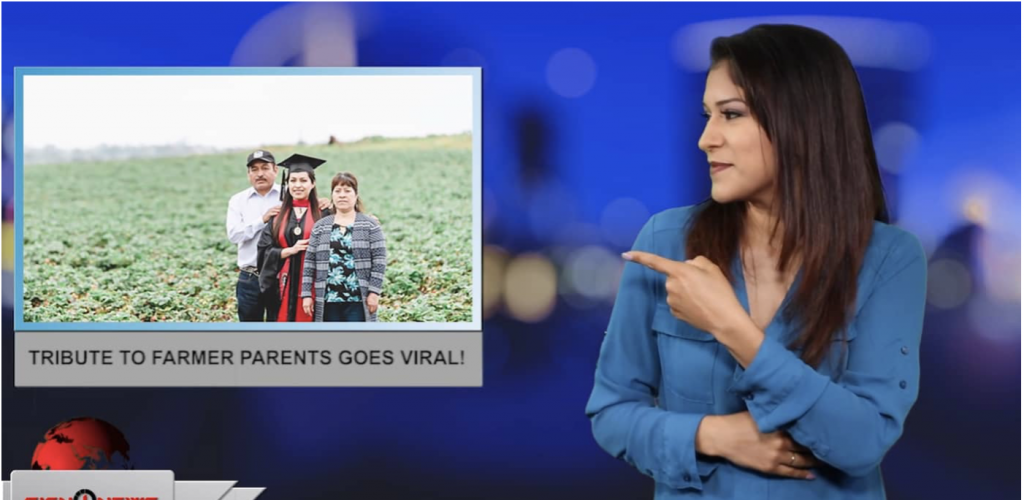 Sign1News anchor Crystal Cousineau - Tribute to farmer parents goes viral! (ASL - 5.27.19)