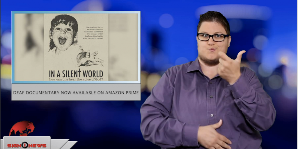 Sign1News anchor Jethro Wooddall - Deaf documentary now available on Amazon Prime (ASL - 5.28.19)