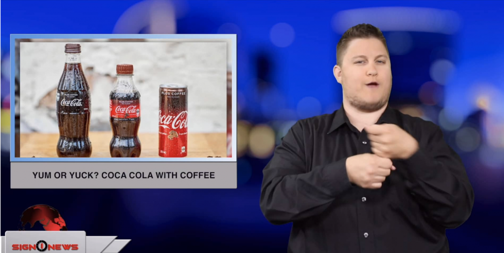 Sign1News anchor Jethro Wooddall - Yum or yuck? Coca Cola with coffee (ASL - 5.30.19)