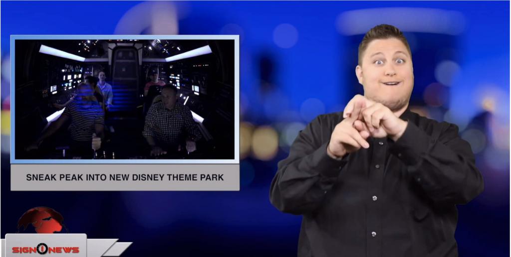 Sign1News anchor Jethro Wooddall - Sneak peak into new Disney theme park (ASL - 5.30.19)