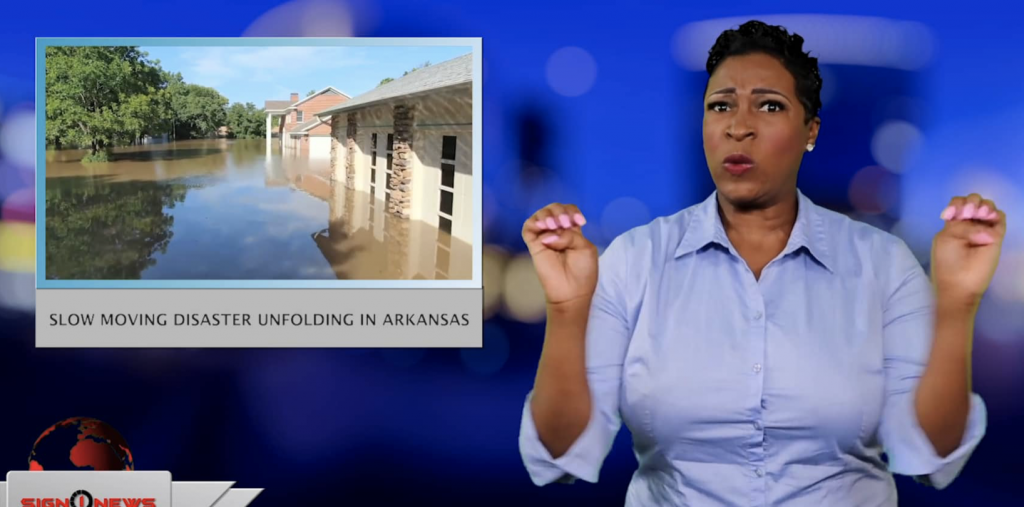 Sign1News anchor Candace Jones - Slow moving disaster unfolding in Arkansas (ASL - 5.31.19)