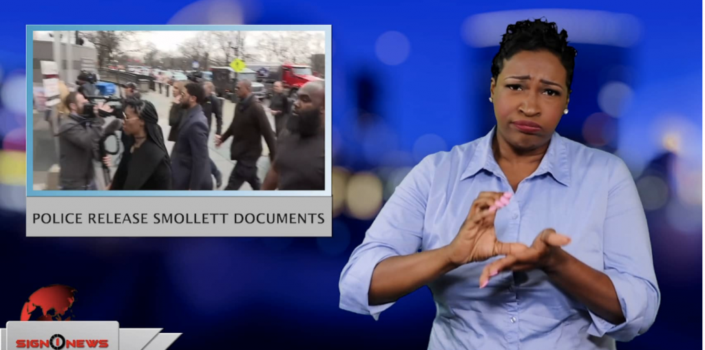 Sign1News anchor Candace Jones - Police release Smollett documents (ASL - 5.31.19)