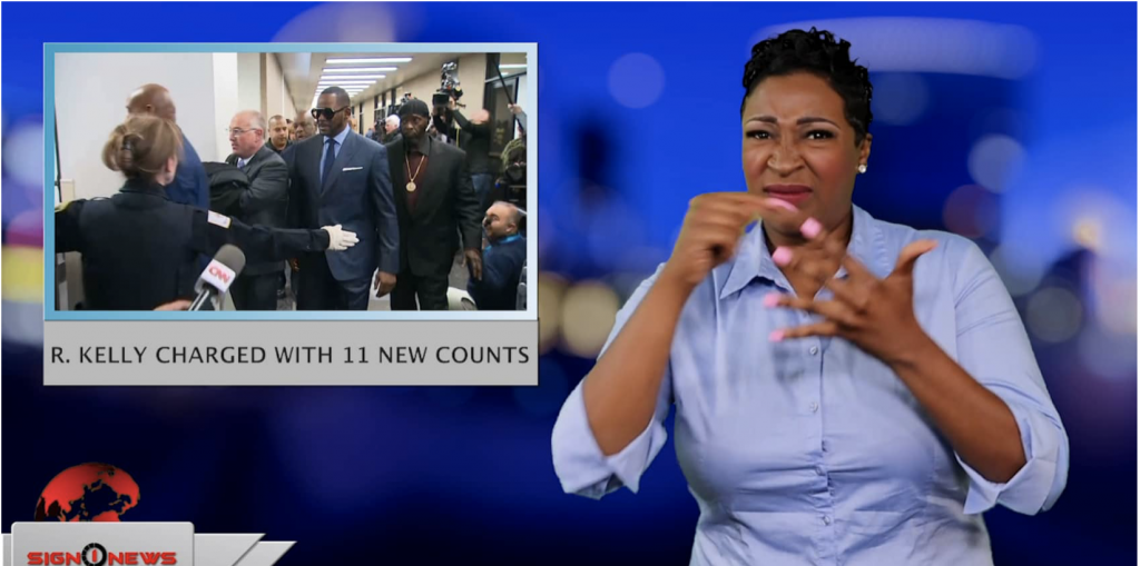 Sign1News anchor Candace Jones - R. Kelly charged with 11 new counts (ASL - 5.31.19)