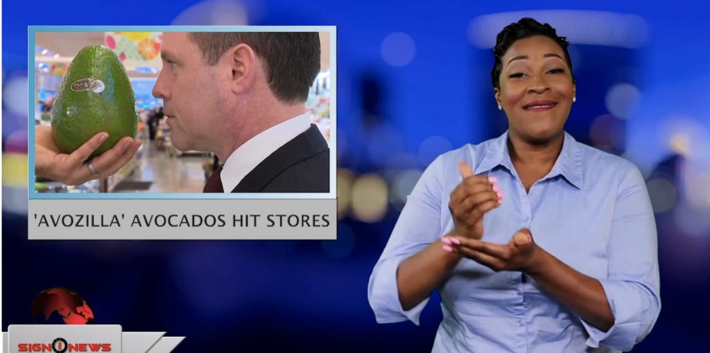Sign1News anchor Candace Jones - 'Avozilla' avocados hit stores (ASL - 5.31.19)