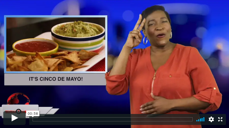Sign 1 News with Candace Jones - It's Cinco de Mayo! (ASL - 5.5.19)