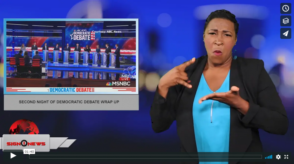 Sign 1 News with Candace Jones - Second night of Democratic debate wrap up (ASL - 6.28.19)