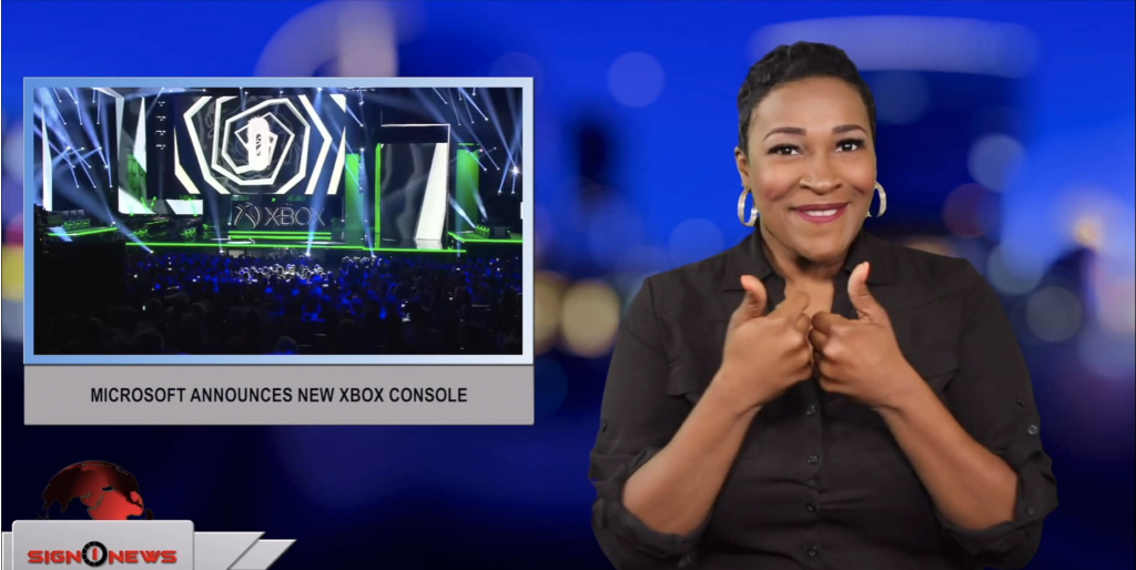 Sign1News anchor Candace Jones - Microsoft announces new Xbox console (ASL - 6.10.19)