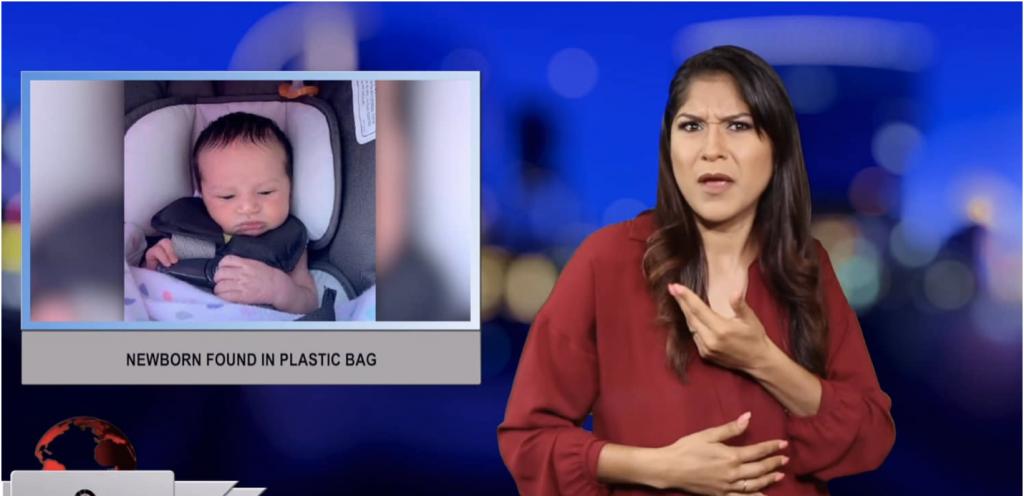 Sign1News anchor Crystal Cousineau - Newborn found in plastic bag (ASL - 6.22.19)