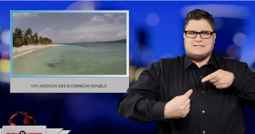 Sign1News anchor Jethro Wooddall - 10th American dies in Dominican Republic (ASL - 6.24.19)