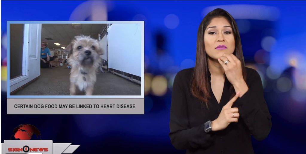 Sign1News anchor Crystal Cousineau - Certain dog food may be linked to heart disease (ASL - 6.29.19)