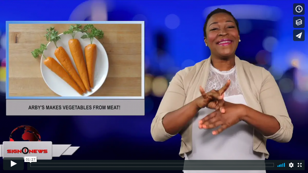 Sign 1 News with Candace Jones - Arby's makes vegetables from meat! (6.27.19)