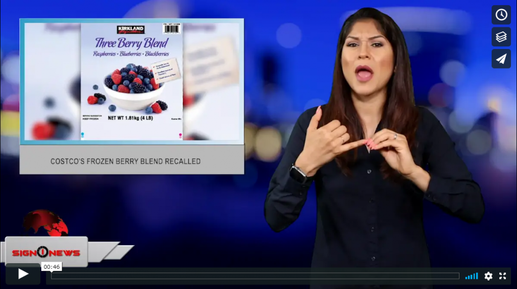 Sign 1 News with Crystal Cousineau - Costco's frozen berry blend recalled