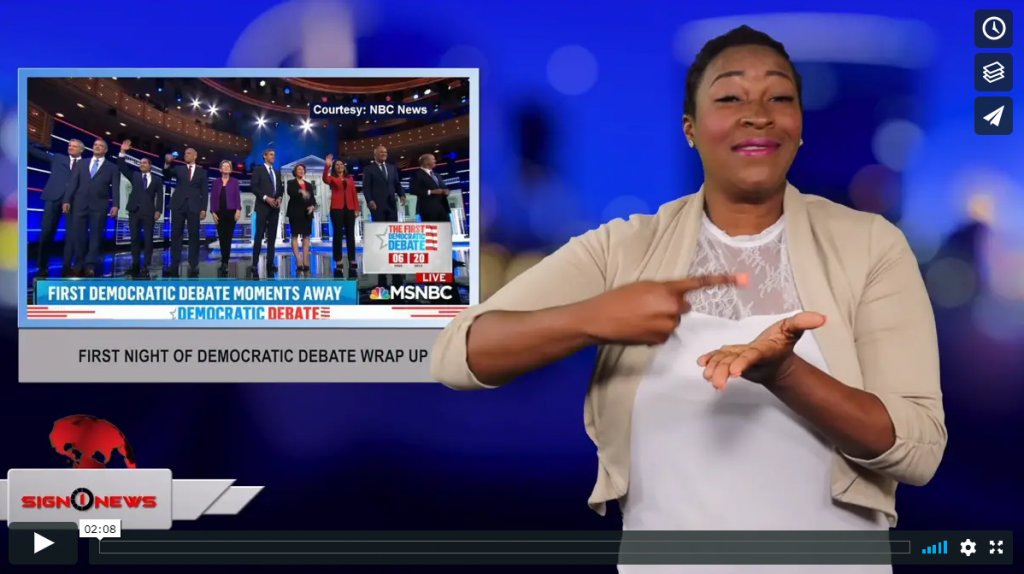Sign 1 News with Candace Jones - First night of Democratic debate wrap up (6.27.19)