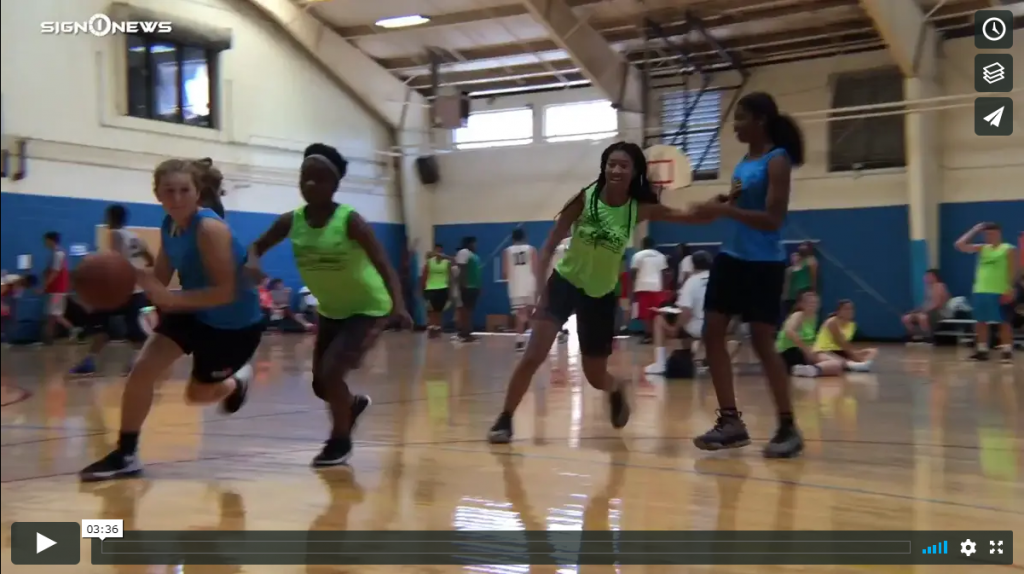 Sign 1 News with Candace Jones - Mike Glenn Deaf basketball camp behind the scenes (6.27.19)