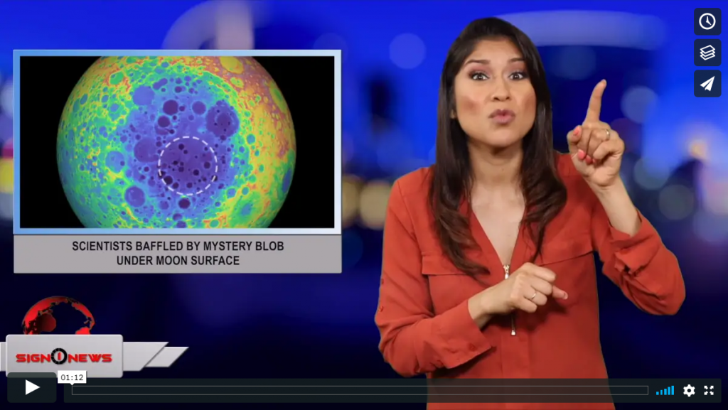 Sign 1 News with Crystal Cousineau - Scientists baffled by mystery blob under Moon surface (ASL - 6.12.19)