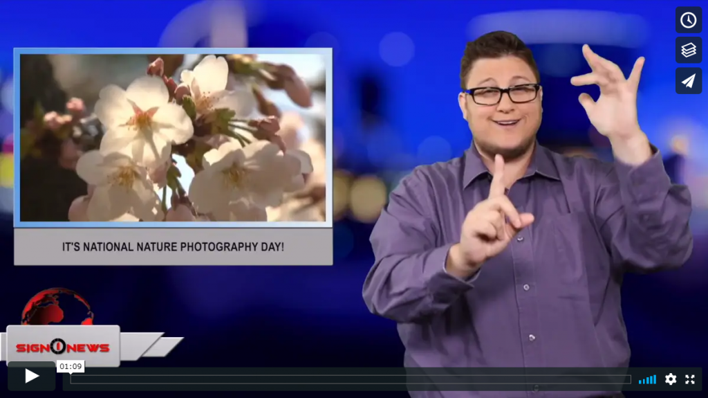 Sign 1 News with Jethro Wooddall - It's National Nature Photography Day!