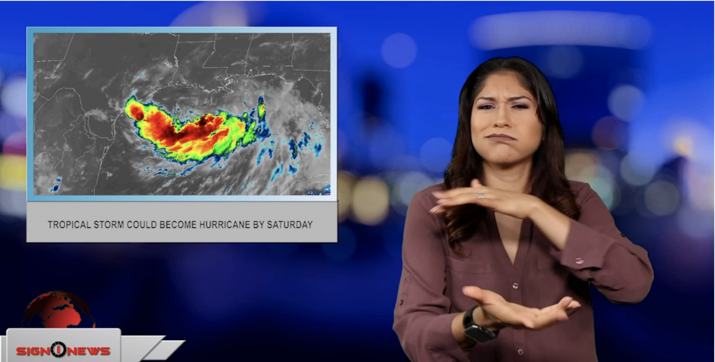 Sign1News anchor Crystal Cousineau - Tropical storm could become hurricane by Saturday (ASL - 7.12.19)