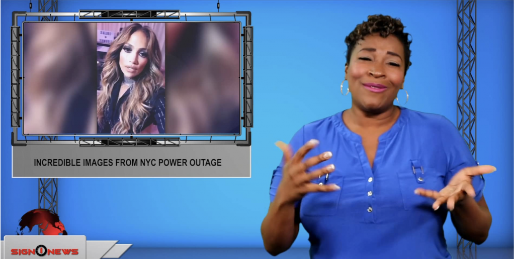 Sign1News anchor Candace Jones - Incredible images from NYC power outage (ASL - 7.14.19)