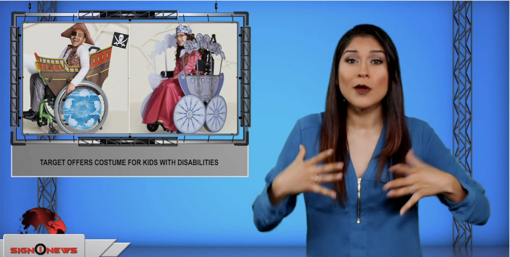 Sign1News anchor Crystal Cousineau - Target offers costume for kids with disabilities (ASL - 7.18.19)