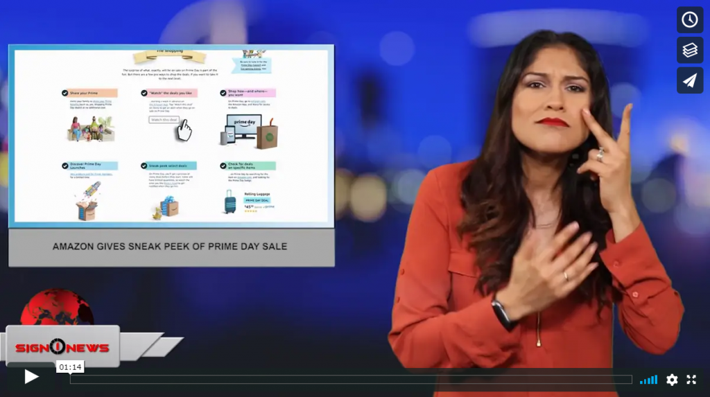 Sign 1 News with Crystal Cousineau - Amazon gives sneak peek of prime day sale (ASL - 7.13.19)