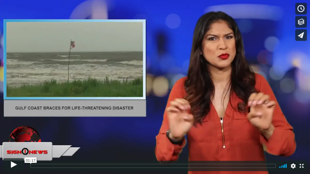 Sign 1 News with Crystal Cousineau - Gulf Coast braces for life-threatening disaster (ASL - 7.13.19)