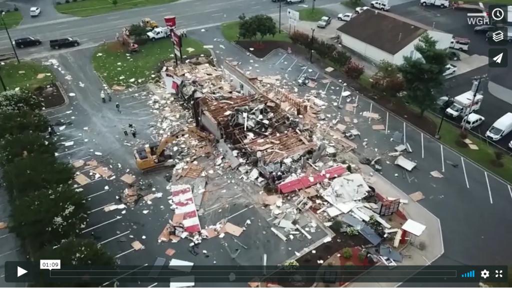 Sign 1 News with Crystal Cousineau - Video captures huge explosion leveling KFC (ASL - 7.13.19)