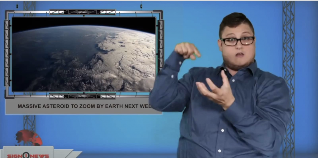 Sign1News anchor Jethro Wooddall - Massive asteroid to zoom by Earth next week (ASL - 8.2.19)