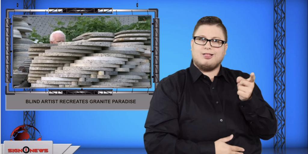 Sign1News anchor Jethro Wooddall - Blind artist recreates granite paradise (ASL - 8.15.19)