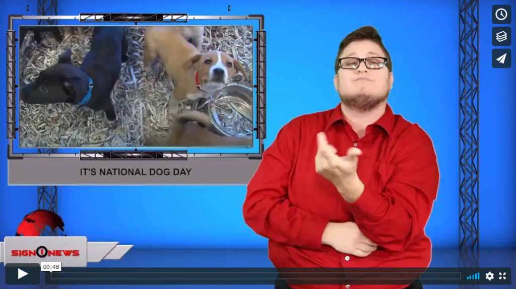 Sign 1 News with Jethro Wooddall - It's National Dog Day (ASL - 8.26.19)
