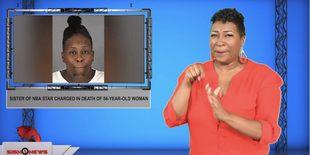 Sign1News anchor Candace Jones - Sister of NBA star charged in death of 84-year-old woman (ASL - 9.9.19)