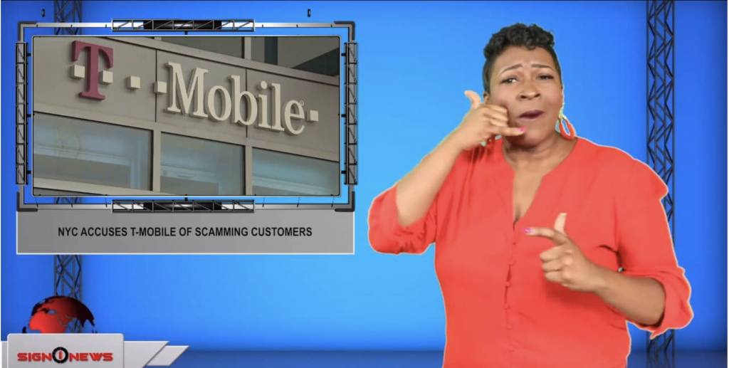 Sign1News anchor Candace Jones - NYC accuses T-Mobile of scamming customers (ASL - 9.9.19)