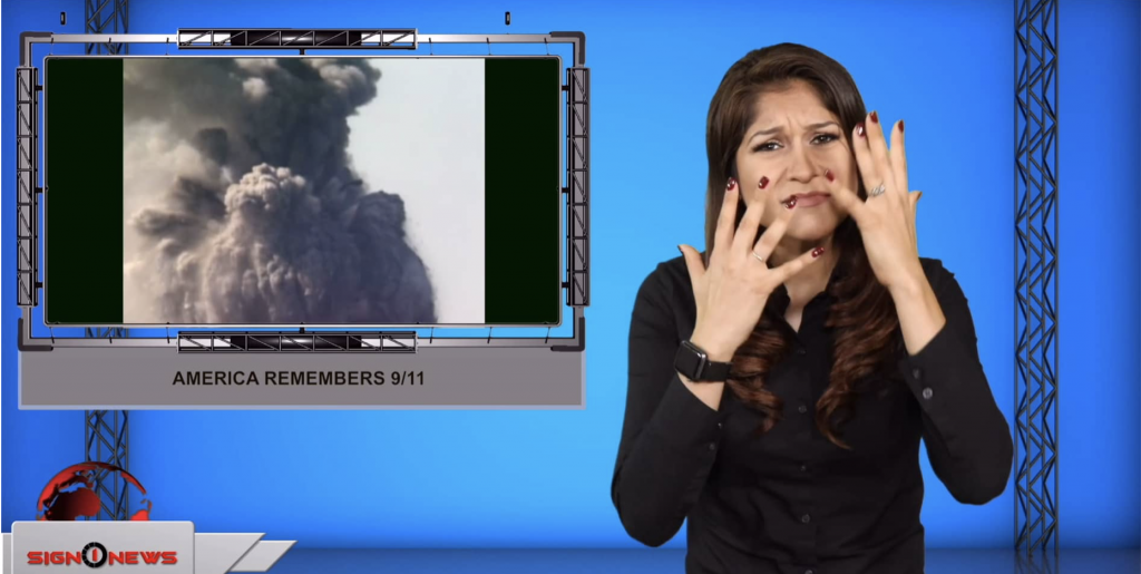 Sign1News anchor Crystal Cousineau - America remembers 9/11 (ASL - 9.11.19)