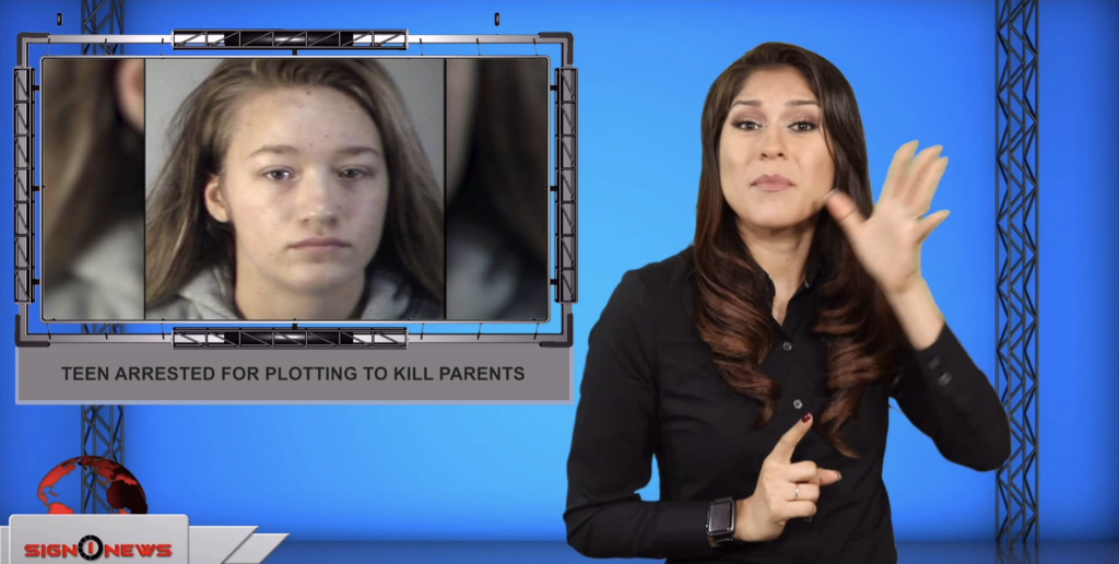 Sign1News anchor Crystal Cousineau - Teen arrested for plotting to kill parents (9.11.19)