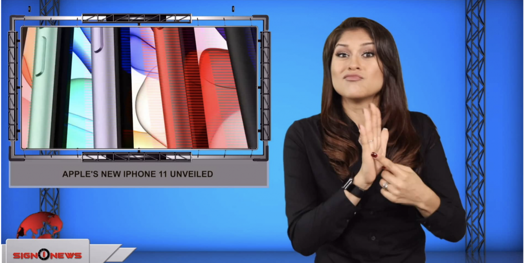 Sign1News anchor Crystal Cousineau - Apple's new iPhone 11 unveiled (ASL - 9.11.19)