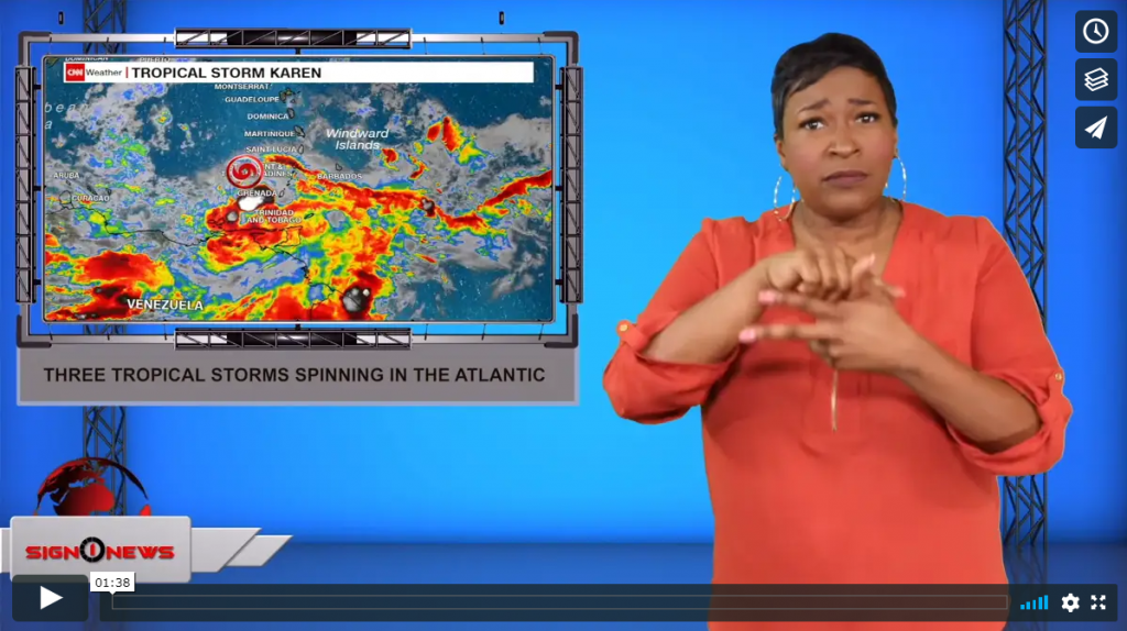 Sign 1 News with Candace Jones - Three tropical storms spinning in the Atlantic (ASL - 9.24.19)