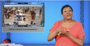 Sign1News anchor Candace Jones - Forever 21 retailer files for bankruptcy (ASL - 10.1.19)
