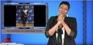 Sign1News anchor Candace Jones - Deaf Man makes GSU homecoming history (ASL - 10.6.19)