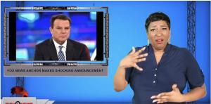 Sign1News anchor Candace Jones - Fox News anchor makes shocking announcement (ASL - 10.12.19)