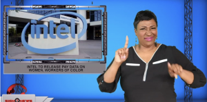 Sign1News anchor Candace Jones - Intel to release pay data on women, workers of color (ASL - 10.18.19)