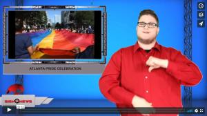 Sign 1 News with Jethro Wooddall - Atlanta Pride celebration (ASL - 10.13.19)