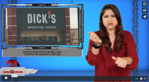Sign 1 News with Crystal Cousineau - Dick's destroys $5 million worth of assault rifles (ASL - 10.8.19)