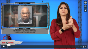 Sign 1 News with Crystal Cousineau - FBI needs help identifying victims of serial killer (ASL - 10.8.19)