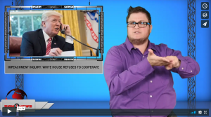 Sign 1 News with Jethro Wooddall - Impeachment inquiry: White House refuses to cooperate (ASL - 10.9.19)