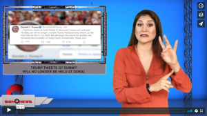 Sign 1 News with Crystal Cousineau - Trump tweets G7 summit will no longer be held at Doral (ASL - 10.20.19)